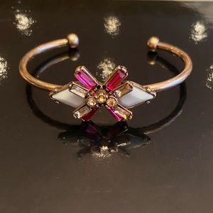 Teal & Pink Crystal Adjustable Cuff